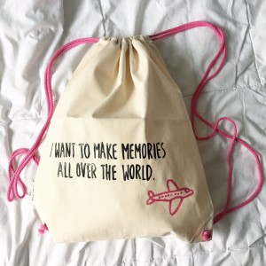 I want to Make memories all over the world Pink